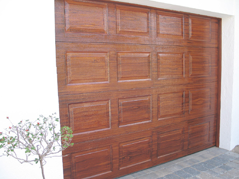 Faux Finish Wood Graining The Garage Door After